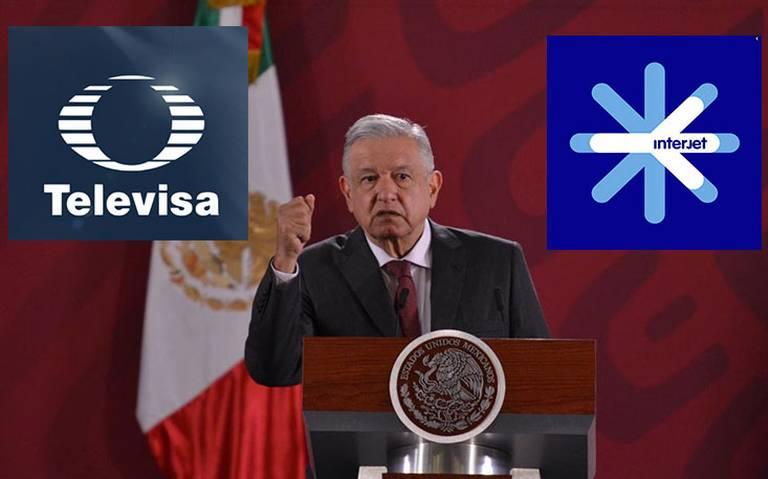 AMLO, dispuesto a mediar conflicto entre Televisa e Interjet