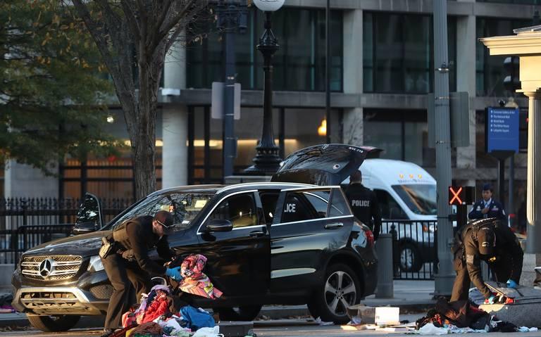 Detienen a conductor que intentó entrar a la Casa Blanca