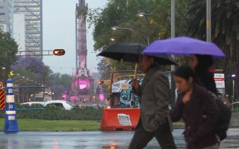 Prevén chubascos en la CDMX y lluvias fuertes en el Estado de México