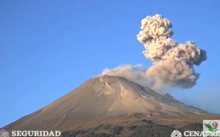 Explosiones del Popocatépetl provocarán caída de ceniza en la CDMX
