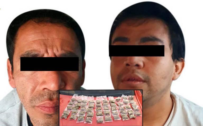 Detienen a dos que vendían droga en Xochimilco