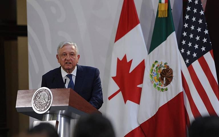 T-MEC impulsará crecimiento económico de México, Canadá y EU: AMLO