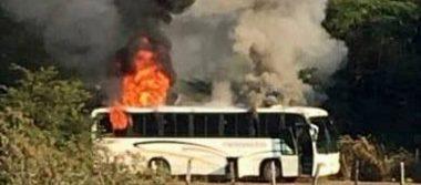 Comando desata balacera y quema vehículos en Coalcomán, Michoacán
