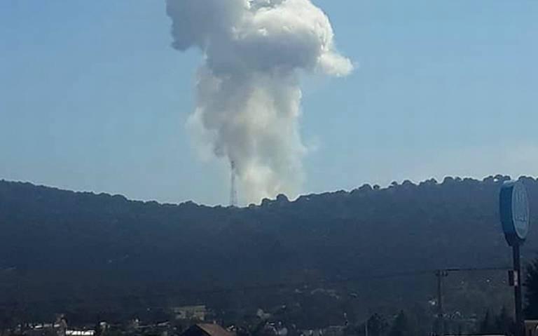 Explosión de polvorín en Amozoc, Puebla, deja cuatro muertos