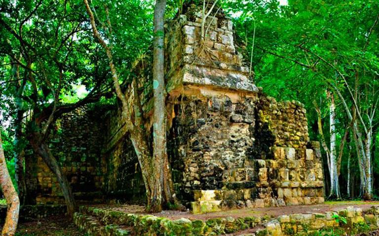 Descubren palacio maya en la zona arqueológica de Kulubá, en Yucatán