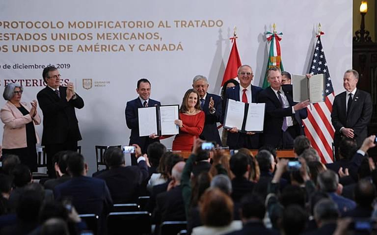 México, Canadá y EU firman protocolo modificatorio del T-MEC