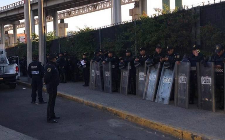Resguardan AICM ante posible bloqueo de policías federales