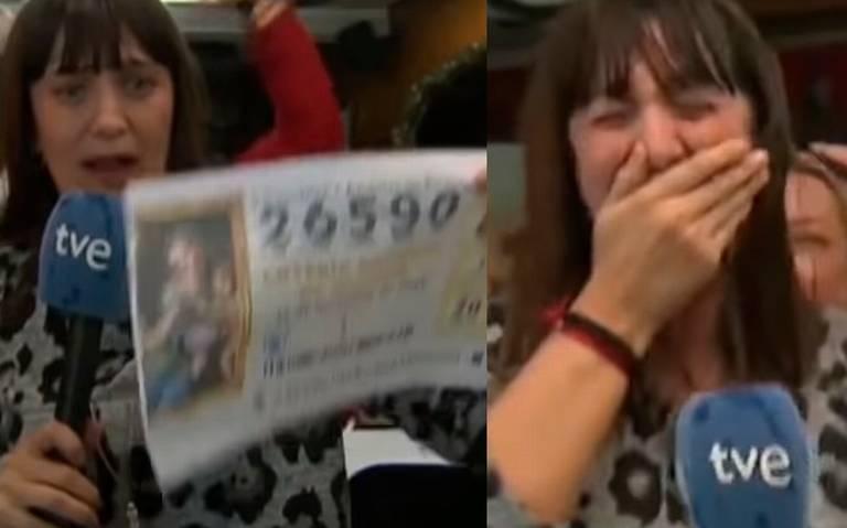 [Video] En pleno enlace, reportera se entera que ganó la Lotería de Navidad