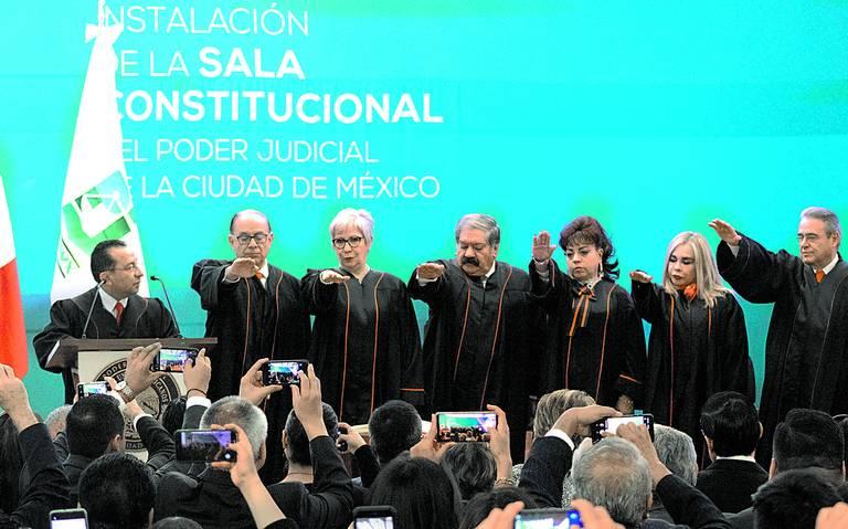 Instalan la primera Sala Constitucional de la CDMX