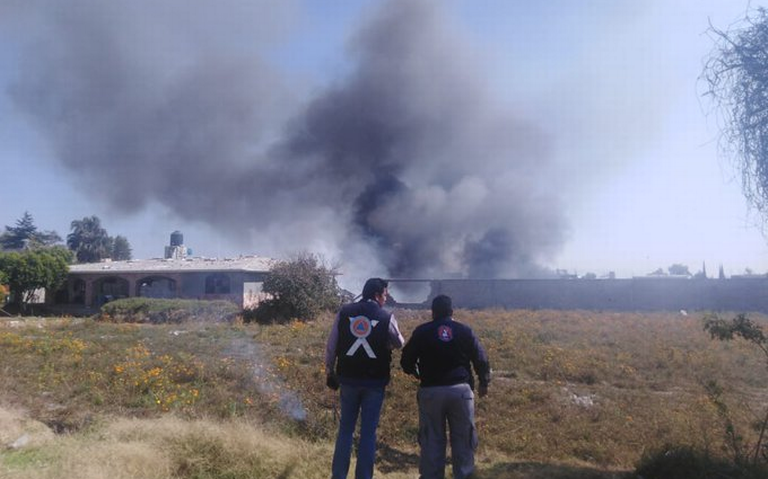 Seis heridos deja explosión en almacén de pirotecnia en Tepeaca, Puebla