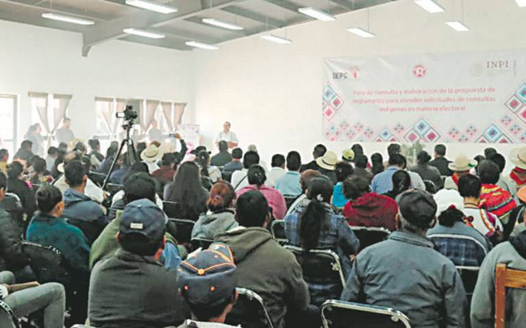 A consulta, elección por usos y costumbres en Chiapas