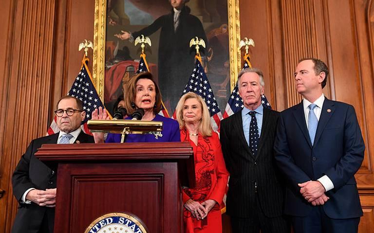 Demócratas acusan a Trump de abuso de poder y obstrucción al Congreso