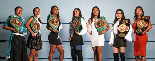 Las siete reinas del boxeo mexicano