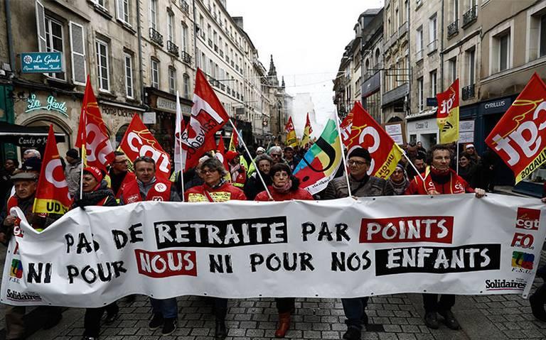 Sindicatos se unen para hacer frente a reforma de pensiones en Francia