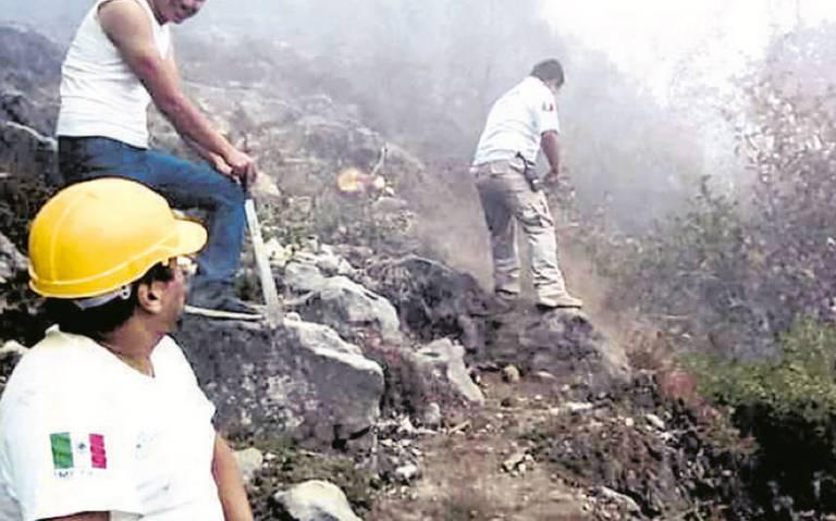 Pirotecnia causa incendio en biosfera de la reserva del volcán Tacaná