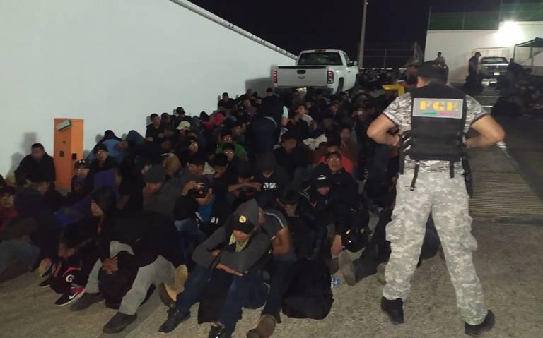 Rescatan a 292 migrantes en Ocozocoautla