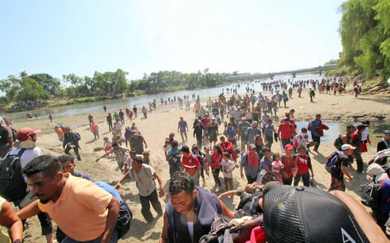 AMLO niega represión de GN a migrantes que intentaron cruzar por el Río Suchiate