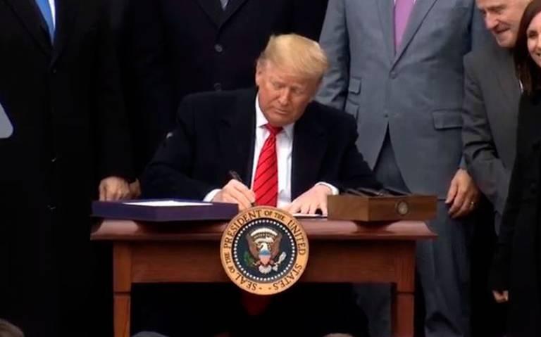 Donald Trump encabeza ceremonia de firma del T-MEC