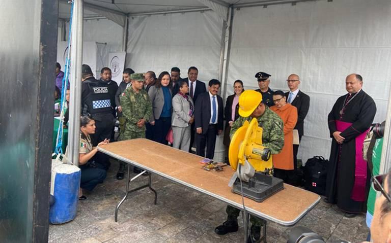 Buscan recabar más de 4 mil 500 armas en la segunda etapa de desarme voluntario