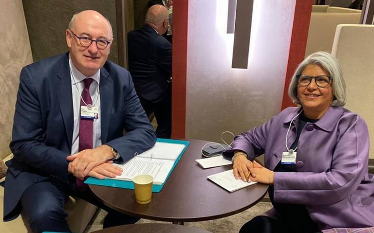 Graciela Márquez presenta en Davos prioridades y logros de la 4T