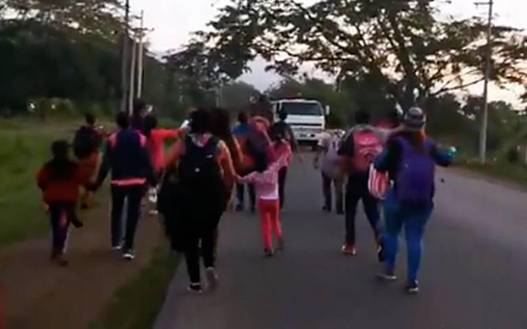 Nueva caravana migrante parte de Honduras y avanza hacia EU