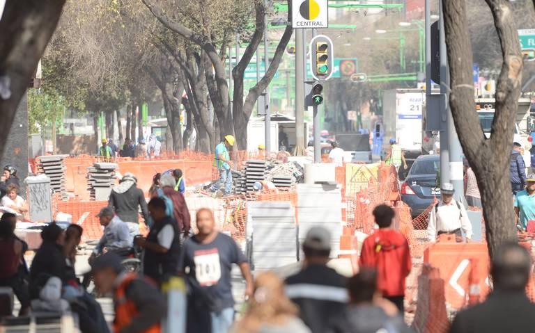 Retrasadas, obras sobre Hidalgo y Eje Central