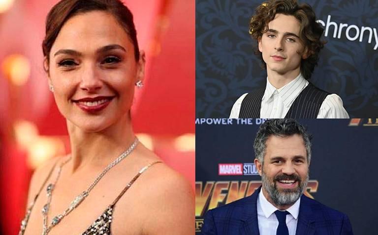 Gal Gadot, Mark Ruffalo y Timothée Chalamet, entre los presentadores de premios Oscar