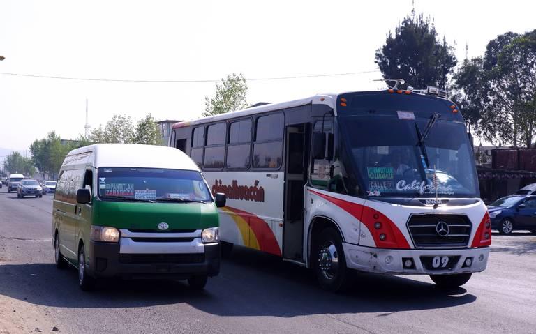 Transporte del Edomex da servicio sin pirámide tarifaria