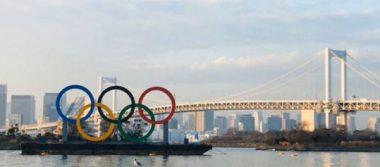 Encienden enormes aros olímpicos seis meses antes de los JJOO