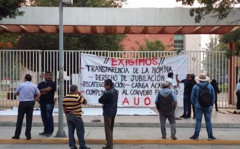 Continúa el paro de labores en la Universidad de Oaxaca