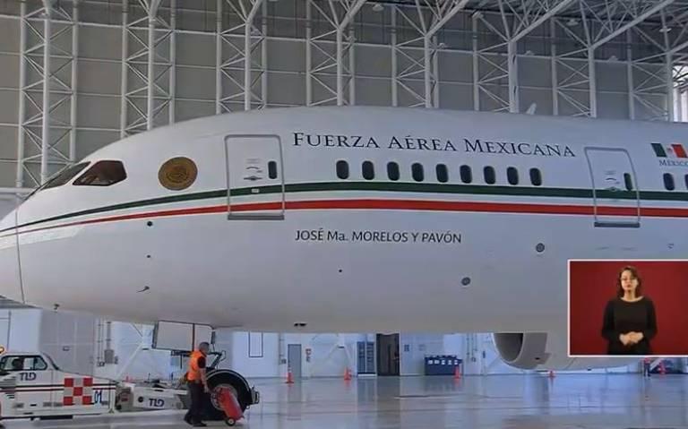 Gobierno anuncia el regreso a México del avión presidencial