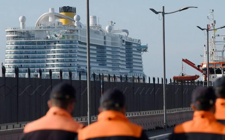 Ponen en cuarentena un crucero en Roma por coronavirus