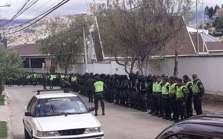 Embajada de México en Bolivia reporta fuerte operativo en la zona