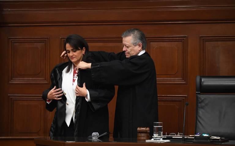 Margarita Ríos-Farjat asume investidura como ministra de la Corte