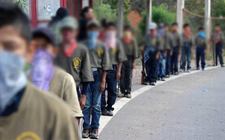 Niños se enlistan como policías en Chilapa para defender a la región del crimen