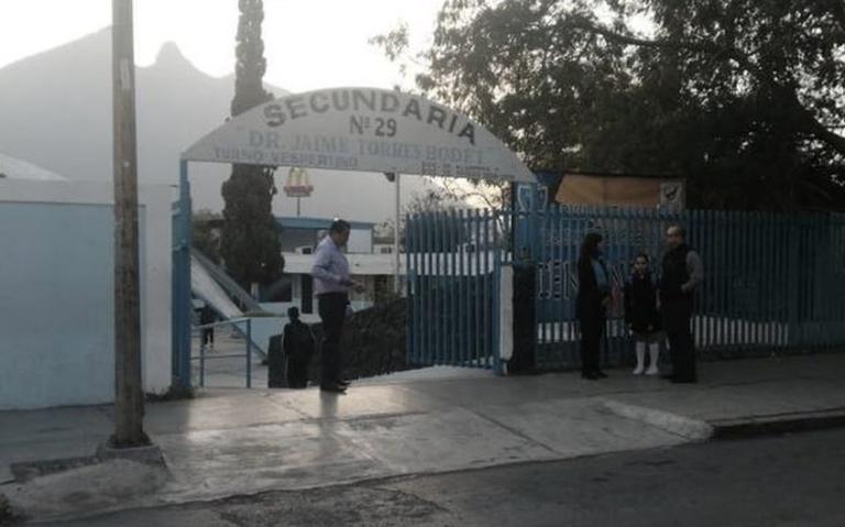 Menor amenaza a sus compañeros de iniciar tiroteo en secundaria de Monterrey