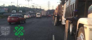 Transportistas liberan la México-Pachuca y se plantan en el Zócalo