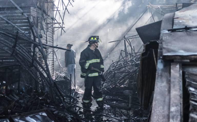 Durante 2019 se reportaron 38 incendios en mercados de CDMX