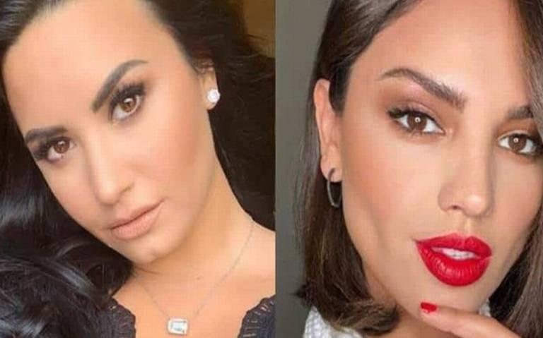 Captan tremendo festejo de Eiza González y Demi Lovato con stripper