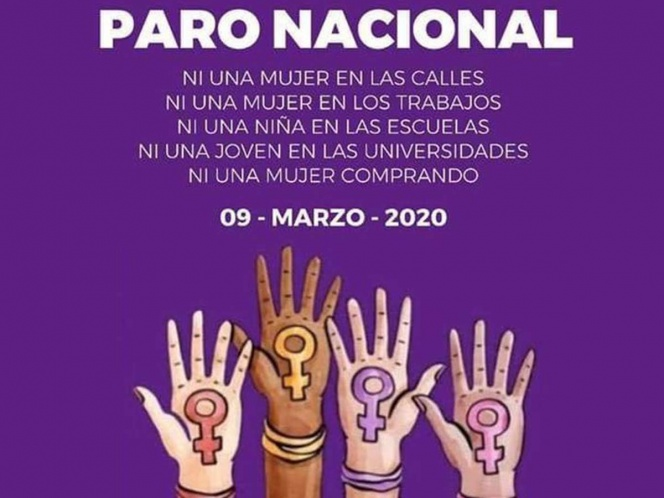 """Convocan a paro nacional """"Un día sin mujeres"""" para el 9 de marzo"""