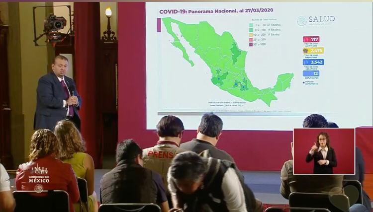 Suman 717 casos confirmados de COVID-19 en México: SSA