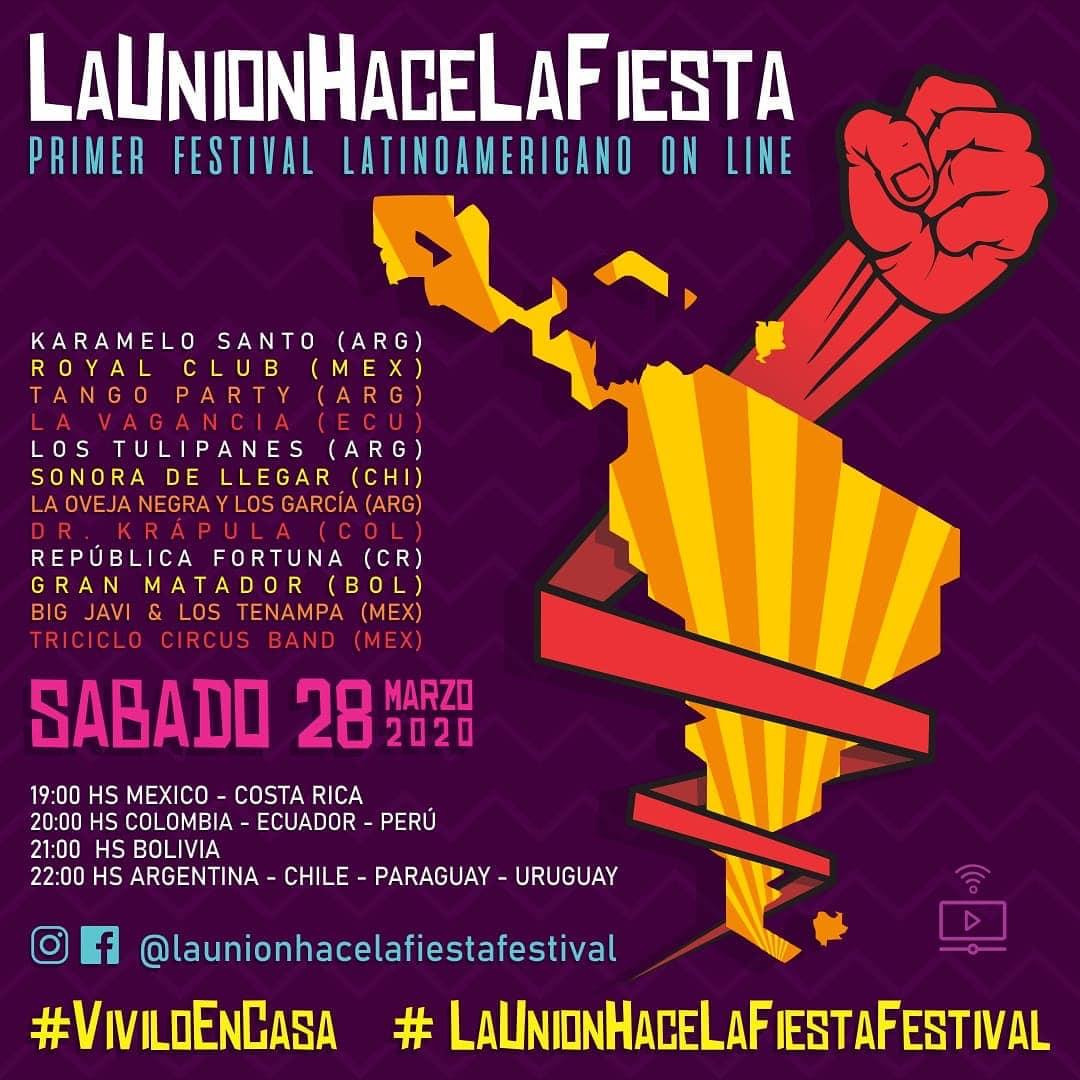 No te pierdas hoy por streaming el Festival La Unión hace La Fiesta