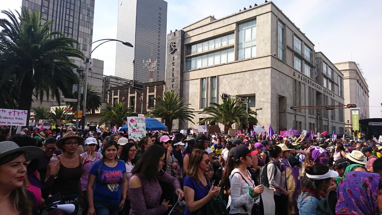 Cerca de 80 mil personas asistieron a la marcha por el Día de la Mujer