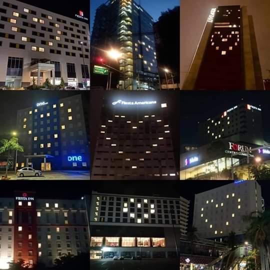 Guadalajara ilumina sus fachadas con mensajes de esperanza por COVID-19
