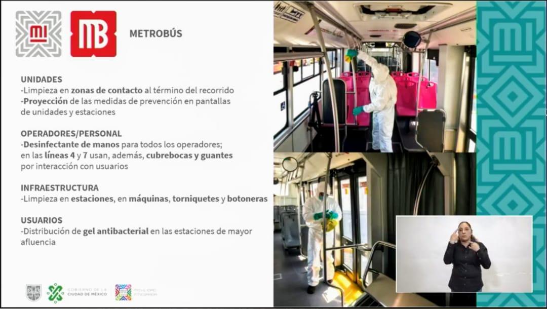 Gobierno capitalino anuncia acciones para que viajes seguro en el transporte ante covid-19