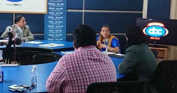 """Nashieli Ramírez titular de la CNDH de CDMX visita """"Desde el piso 10"""""""