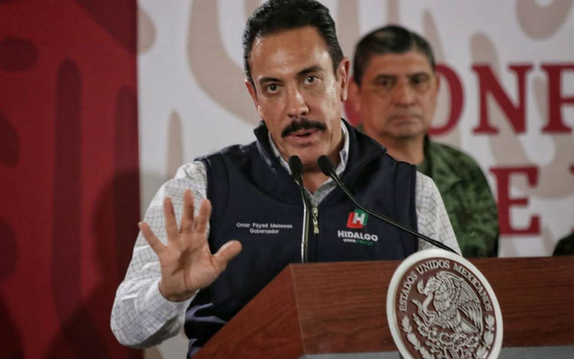 Omar Fayad, Gobernador de Hidalgo, da positivo a coronavirus