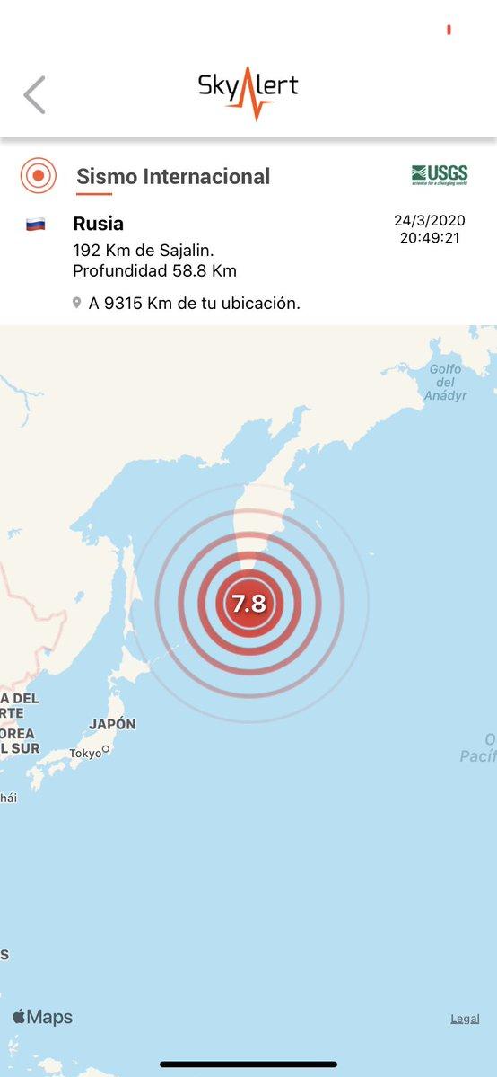 Sismo de magnitud 7.5 sacude a Rusia
