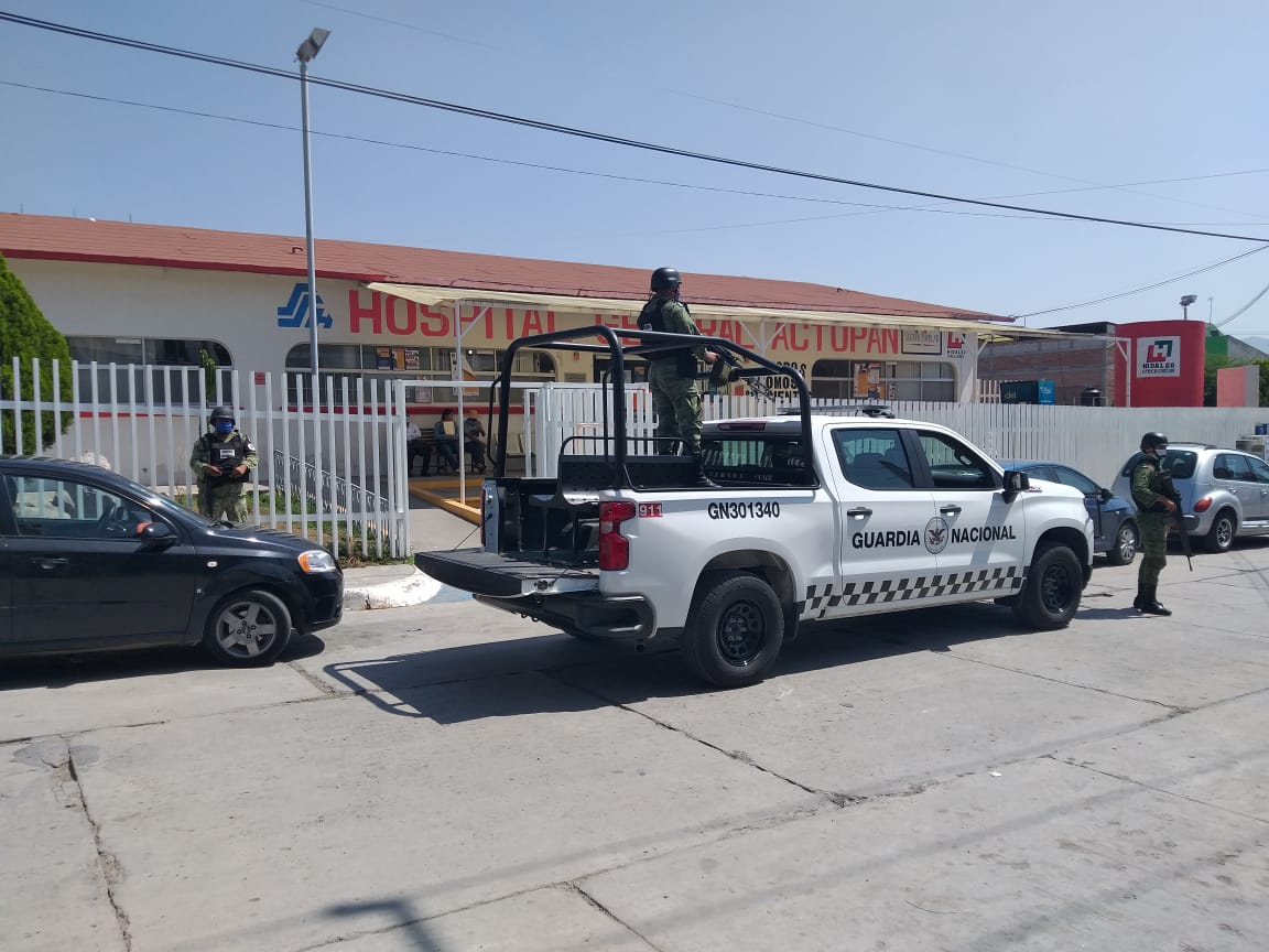 Guardia Nacional refuerza seguridad en hospitales del IMSS e Insabi