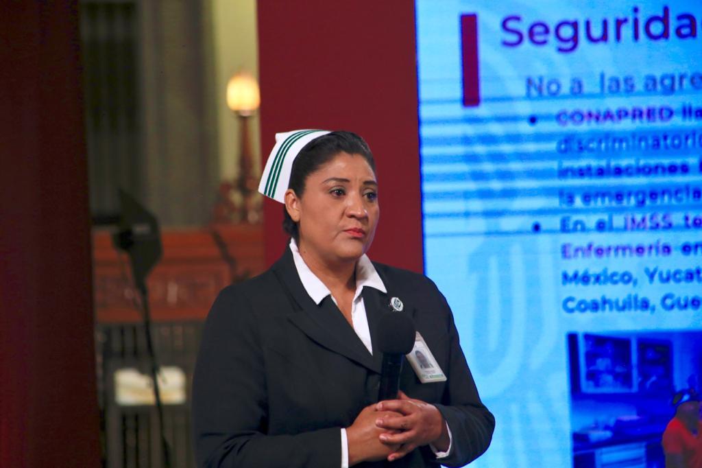 Fabiana Zepeda, Jefa de enfermería del IMSS, llama a cesar agresiones contra el personal de salud